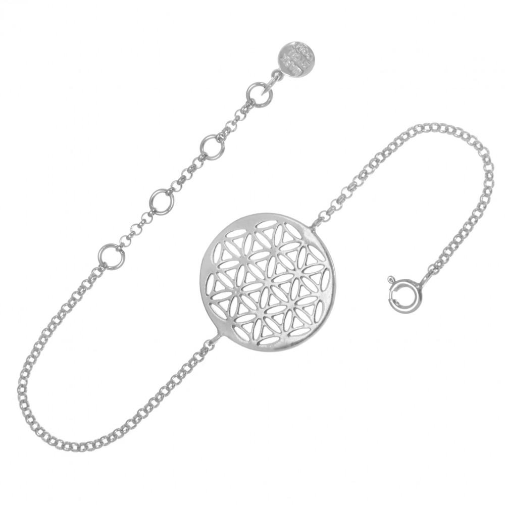Браслет СЕМЯ ЖИЗНИ, серебро-925